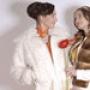 ARABESKA Куртка из козлика с отделкой кожей