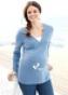 Блуза с длинным рукавом для беременных 936015