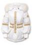 Классическая женская куртка с золотистой тесьмой