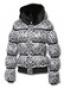 Женская пуховая куртка с мехом из кролика