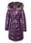 Лаковое пальто с эффектом блеска верхней ткани