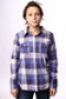 Рубашка женская Дл/Рук Roxy Sugar Addict Shirt Plaid Ppk XGWSH23