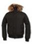 Укороченная зимняя куртка с мехом на капюшоне
