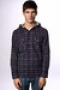 Рубашка Ezekiel Zurich Hooded Flannel Dark Charcoal Blue