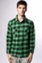 Рубашка Creature Fargo Green/Black Plaid