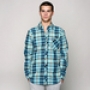 Рубашка Mishka Aberdeen Plaid Buttondown Shirt Blue