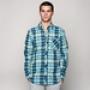 Рубашка Mishka Aberdeen Plaid Buttondown Shirt Blue