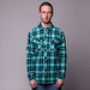 Рубашка Mishka Tacoma Plaid Flannel ButtonDown Cyan
