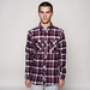Рубашка Mishka Tacoma Plaid Flannel Shirt Raspberry