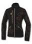 Женская флисовая куртка на молнии со стильной вышивкой золотой н